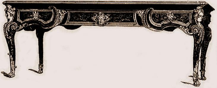 Grande table-bureau (style Louis XIV)